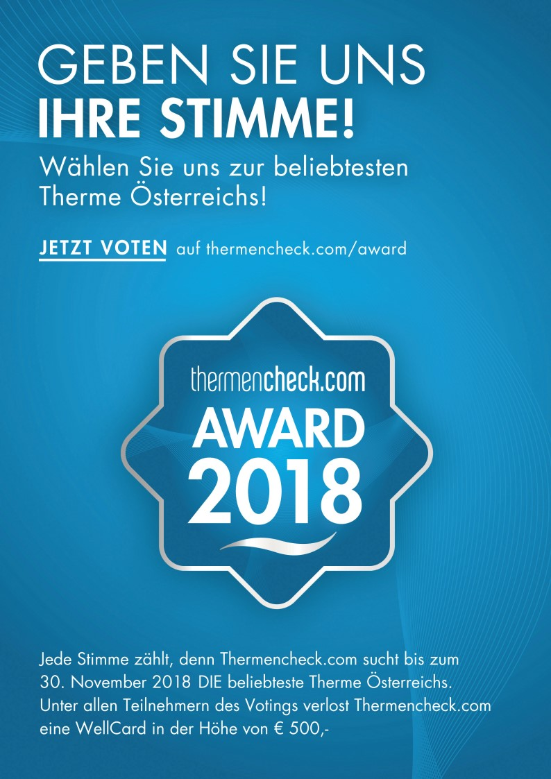 Thermencheck.com Award 2018  Voting Grafik