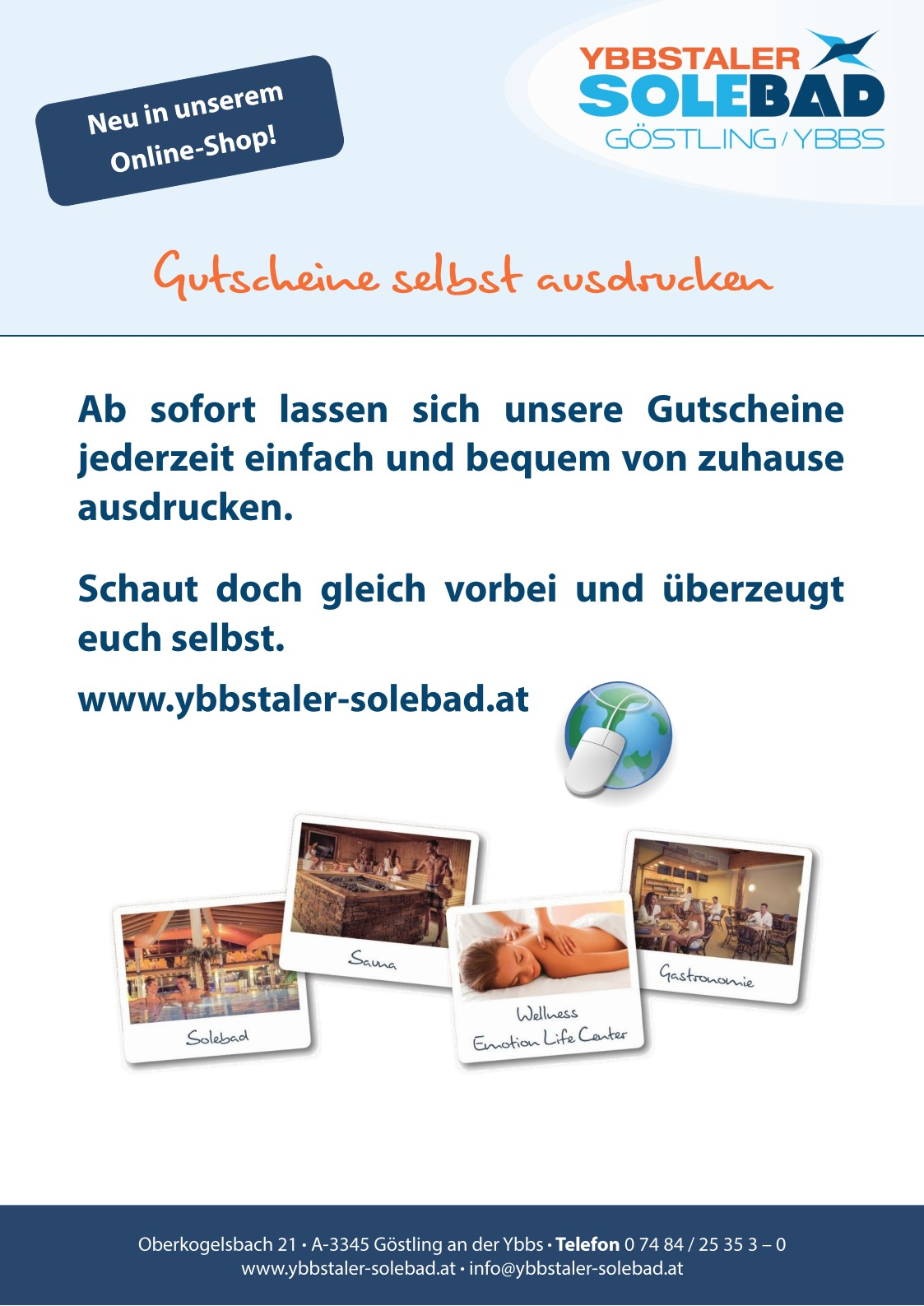 18 09 04 Solebad Marketing Plakat A3 neue Onlineshop-Funktion